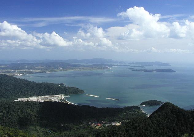 Вид на архипелаг Лангкави