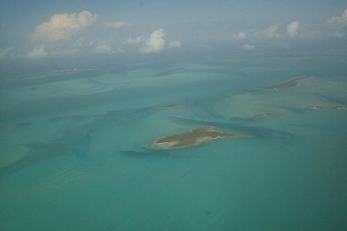 Багамские острова, вид сверху