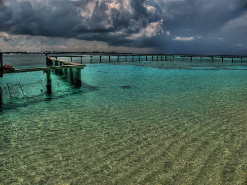 Причал на Багамских островах
