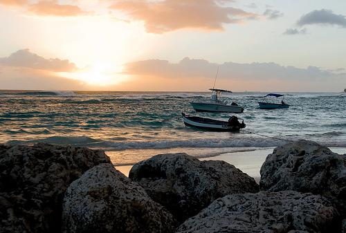 Закат над океаном Барбадоса