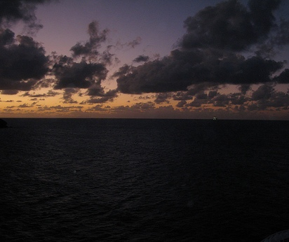Вечерний океан близ Барбадоса