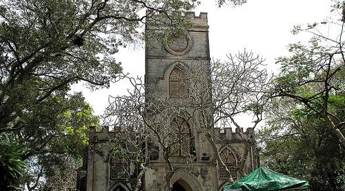 Церковь Св. Иоанна на Барбадосе, построена в 1645 г.