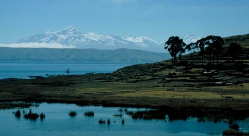 Вечер на минеральных озерах Боливии
