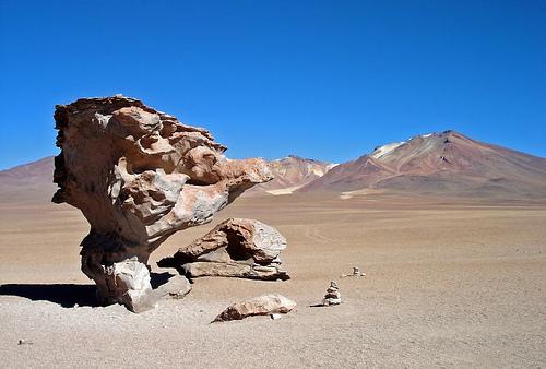 Песчаные зоны в горах Боливии