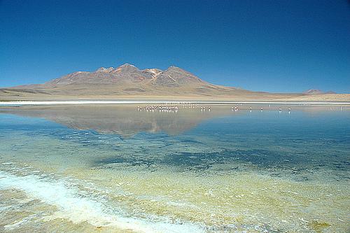 Панорама минеральных озер в Боливии