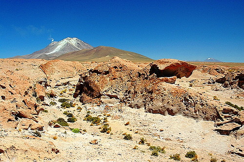 Вулкан Ауканкильча в Боливии