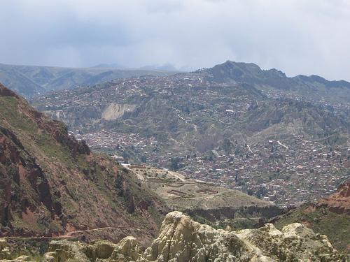 Вид на горные вершины Боливии