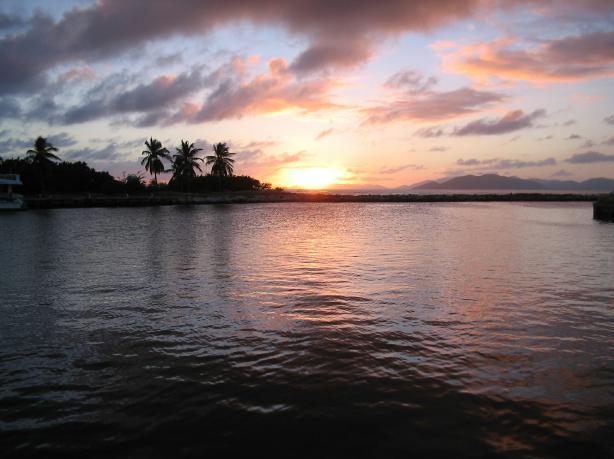 Вечер на побережье Британских Вергинских о-вов