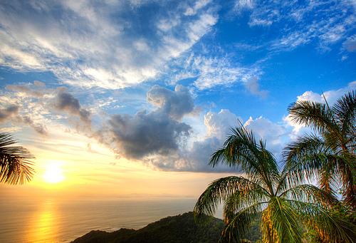 Волшебный закат над Коста Рикой