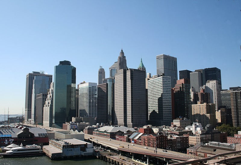 Вид Даунтауна в Нью-Йорке