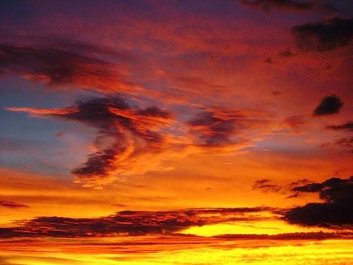 Красивейший закат в Бразилии