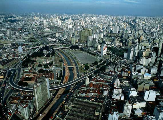 Панорама Сан-Паулу. Бразилия