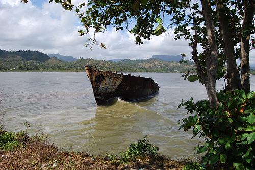 Залив на южном побережье Кубы