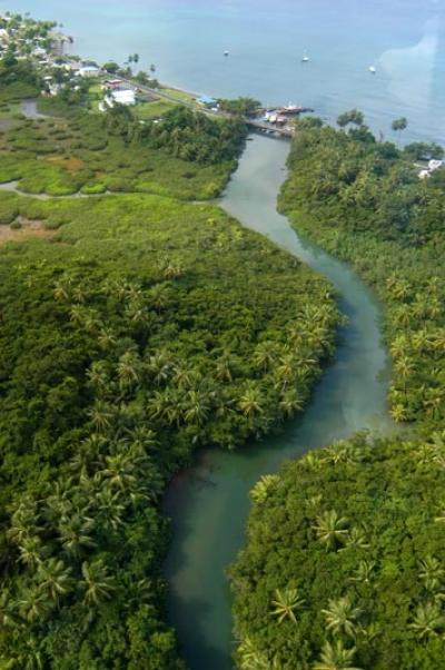 Одна из горных рек Доминики