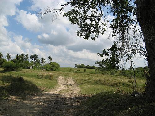 Дорога в островной части Доминиканской республики
