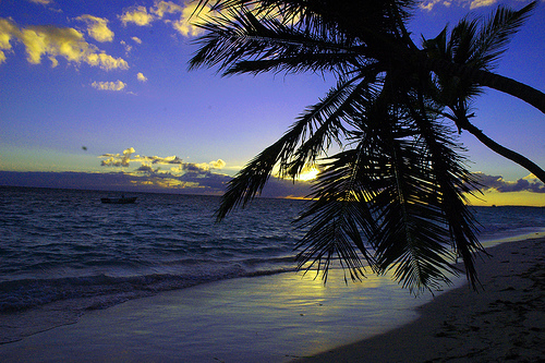 Вечернее побережье в Доминиканской республике
