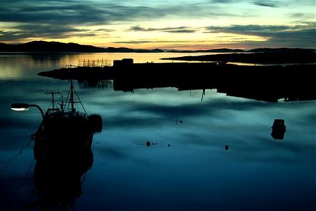 Вечернее побережье Гренландии