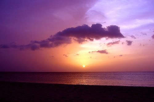 Закат над океаном в Гренаде
