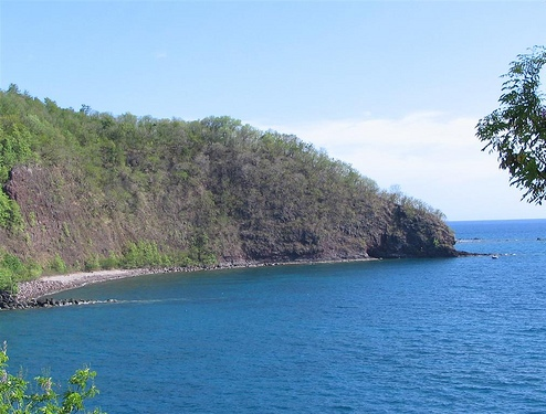Синева Атлантического океана близ Гваделупы