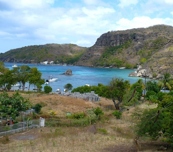 Вид на бухту Гваделупы со стороны берега