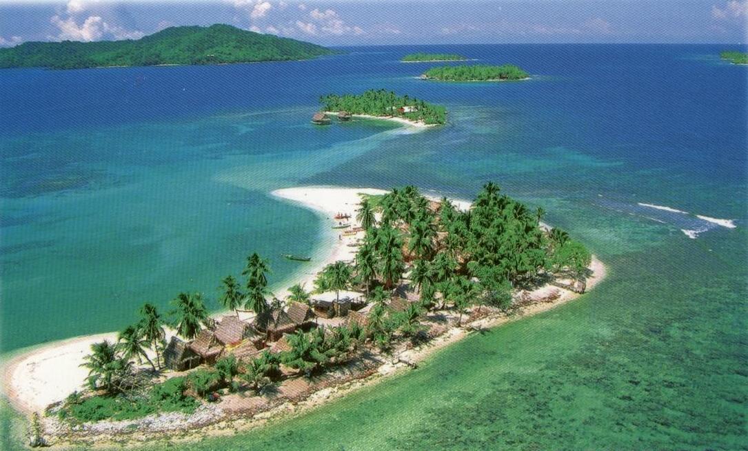 Живописный вид островов Гондураса
