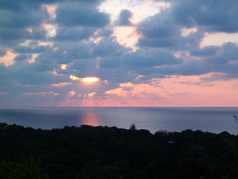Закат над Гондурасом
