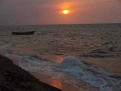 Закат у побережья Гондураса