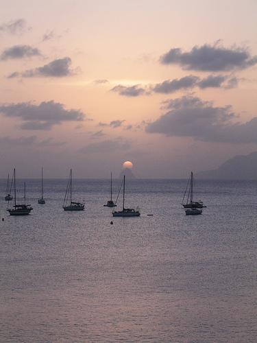 Яхты в заливе Мартиники