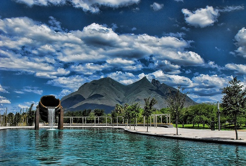 Побережье озера в Мексике