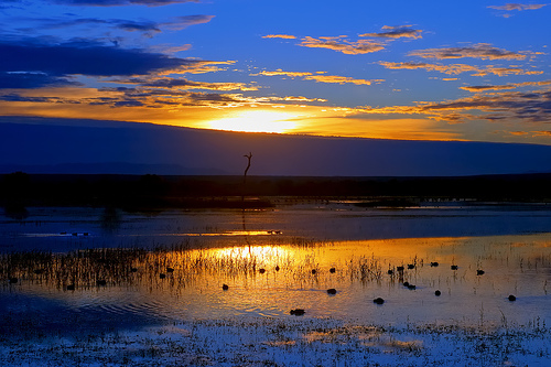 Закат над побережьем Мексики