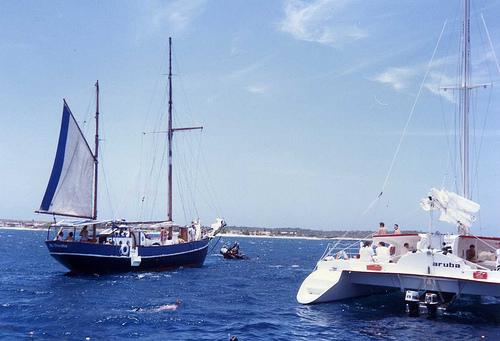 Корабли в заливе Нидерландских Антильских о-вов