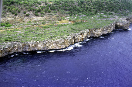 Синева океана близ О-ва Навасса