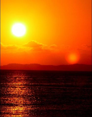 Закат над океаном в Сальвадоре