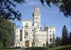 Город Ческе-Будеёвице в Чехии. Замок возле города