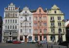 Город Пльзень в Чехии. Площадь