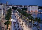 Город Сплит в Хорватии. Набережная