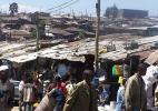 Бедные районы города Аддис-Абеба в Эфиопии