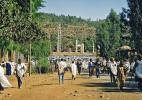 Улица в городе Аксум в Эфиопии