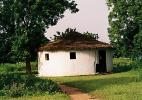 Традиционная африканская хижина. Фарафенни. Гамбия