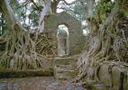 Старинные развалины в городе Гондэр в Эфиопии