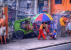 Город Манила на Филиппинах. Улица.