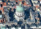 Мраморная церковь в городе Копенгаген в Дании