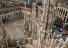 Собор Дуомо в городе Милан в Италии. На крыше