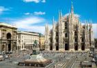 Собор Дуомо в городе Милан в Италии