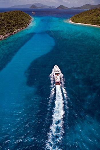 Катание на яхте вдоль побережья Виргин
